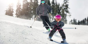 Family Skiing Whistler Blackcomb.